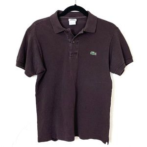 Lacoste Men's Black Polo Shirt EUR 2 - AS IS